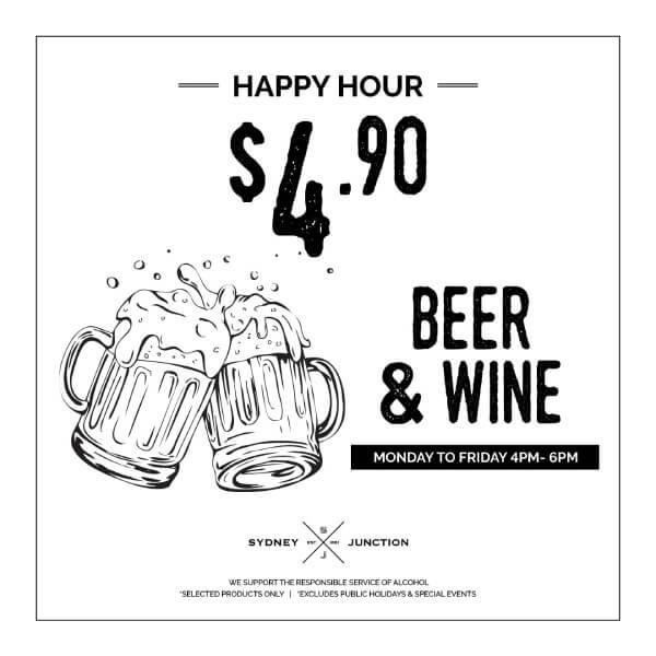 $4.90 beer & wine